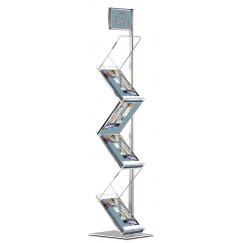 Буклетниця підлогова Zigzag 6шт А4 для поліграфії