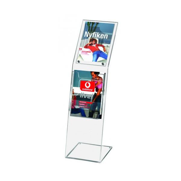 Стійка плитка для друкованої продукції підлогова Monoblock А4
