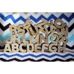 Алфавіт англійський, дерев'яні літери, 26 штук в упаковці