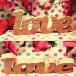 Деревянные буквы Love (без покраски)
