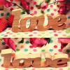 Дерев'яні літери Love (без фарбування)
